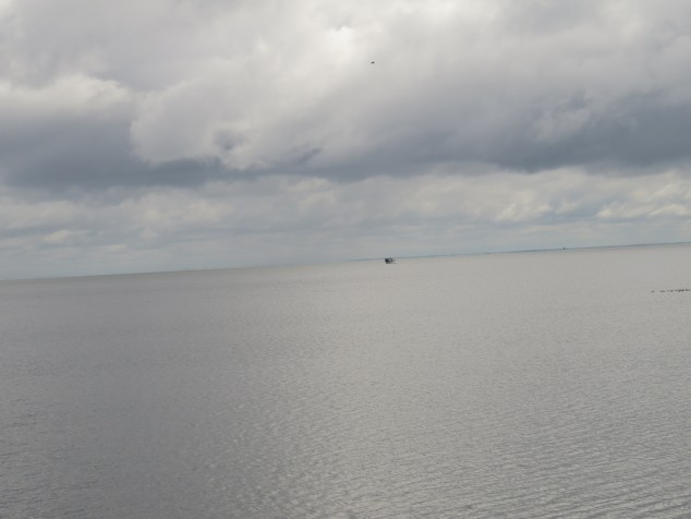 Mille Lacs Lake with boat