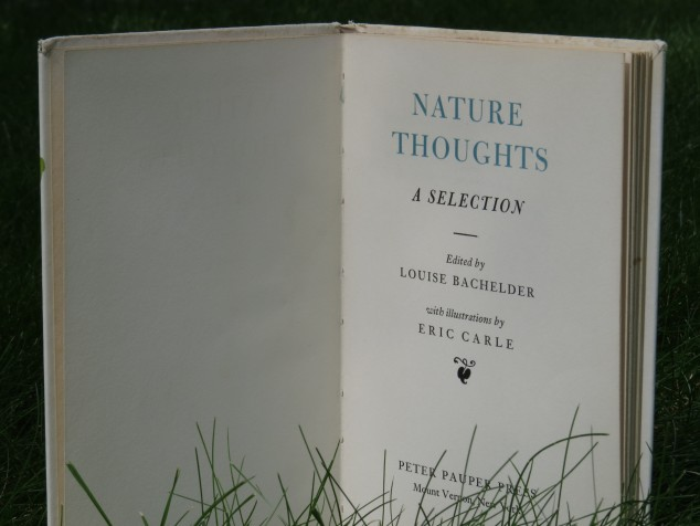 Nature Thoughts book title page