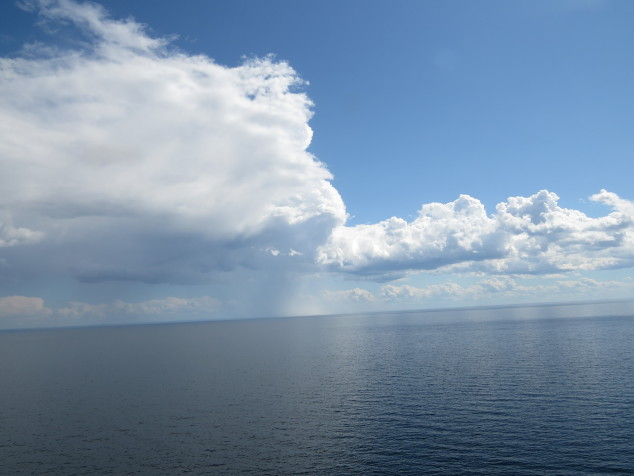 Lake Superior with clouds