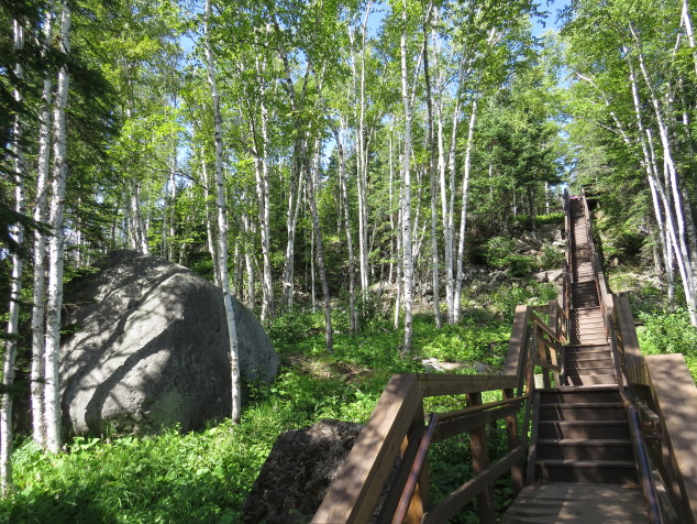 Stairs from the Lake to the Tram house at Split Rock