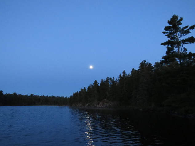 Blue Moon over Picket Lake