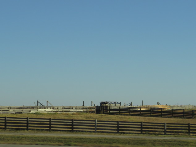 Cattle pens in the Flint Hills of Kansas