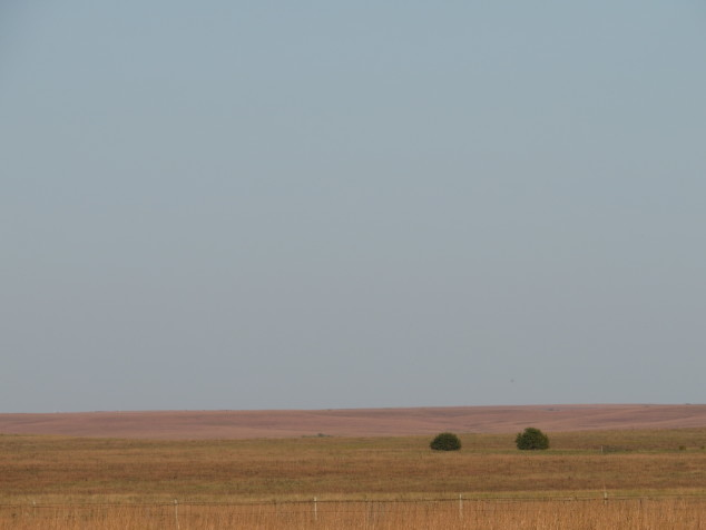 Dusk in the Flint Hills prairie