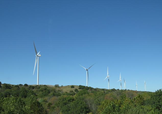 Windmills in southern Oklahoma