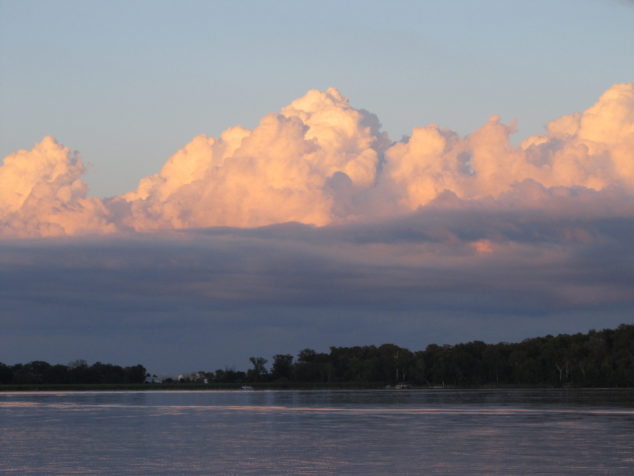Evening clouds on Goodners Lake