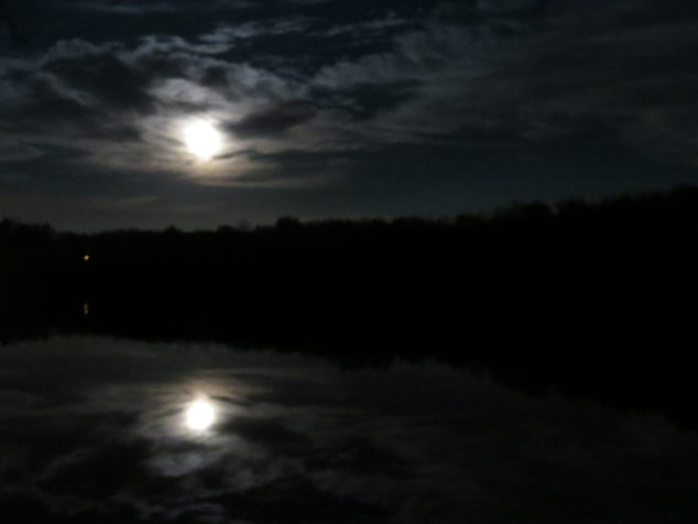 Super Moon over the Sauk River